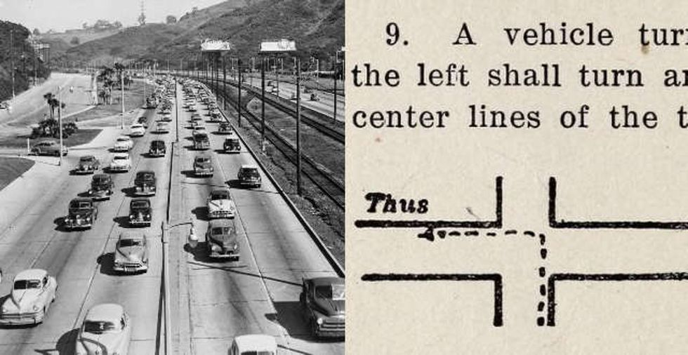 We didn't always turn left the way we do now. What changed?