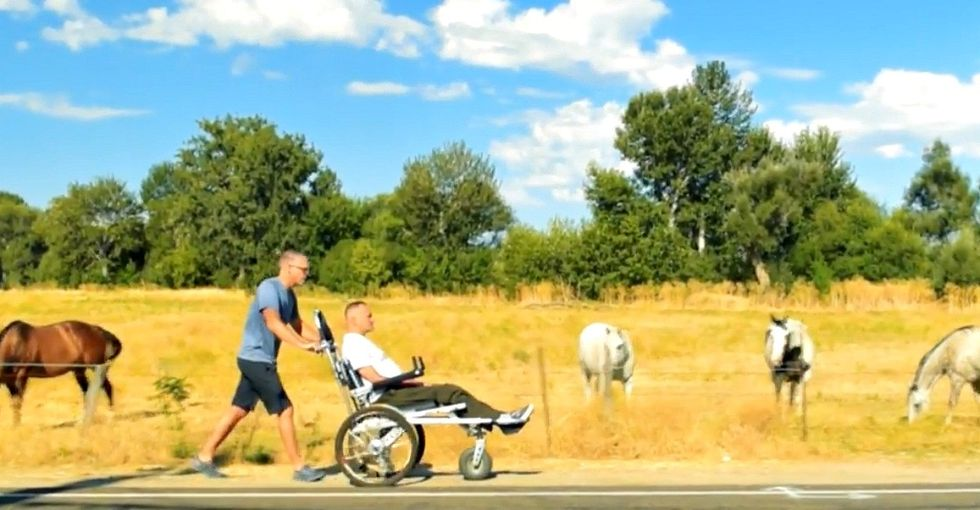 How one man helped his best friend with a neuromuscular disorder hike 500 miles.