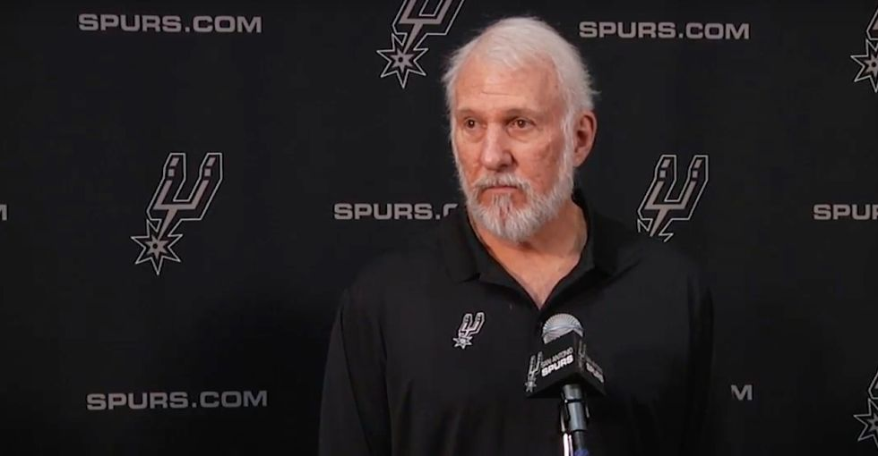 Spurs coach Gregg Popovich takes on Trump and racism in a powerful speech.