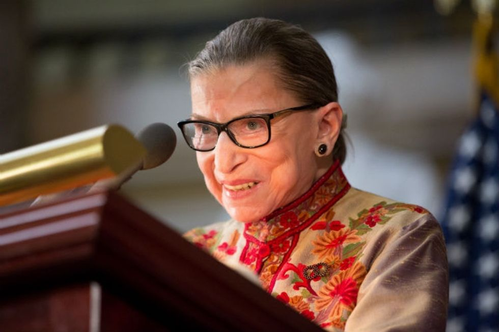 Ruth Bader Ginsburg got blunt about sexism's role in the 2016 election.