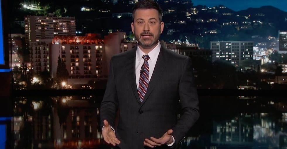 Jimmy Kimmel's emotional monologue on gun violence is a must-watch.