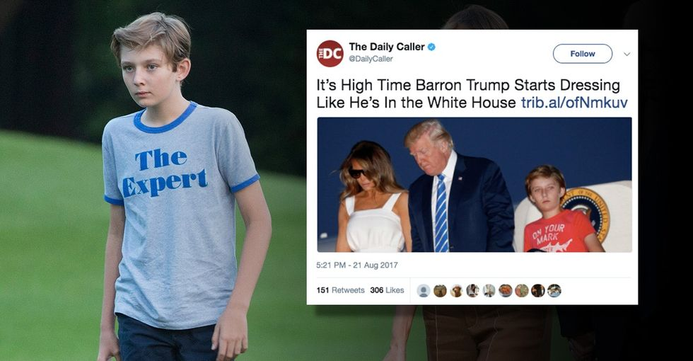 Chelsea Clinton comes to Barron Trump's defense after conservative criticism.