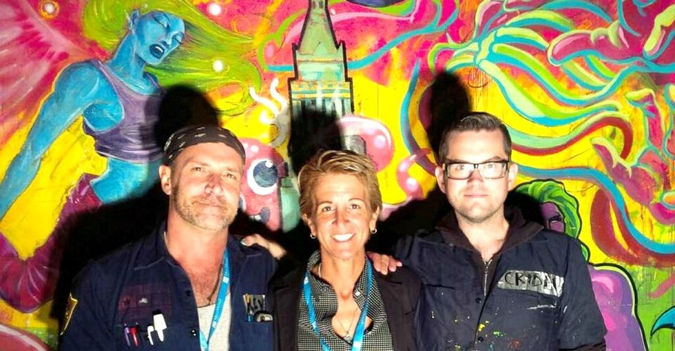 How travel and empty wall space led this woman to create an outlet for street artists.