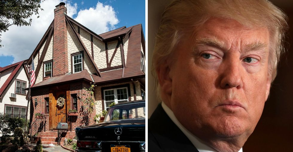 Refugees trolled Trump using his childhood home, and it's pretty glorious.