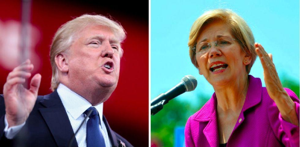 Elizabeth Warren takes on 'Pocahontas' slur in speech to Native Americans.