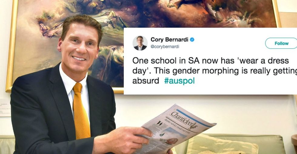 This conservative politician slammed 'Wear a Dress Day.' It backfired. Big time.