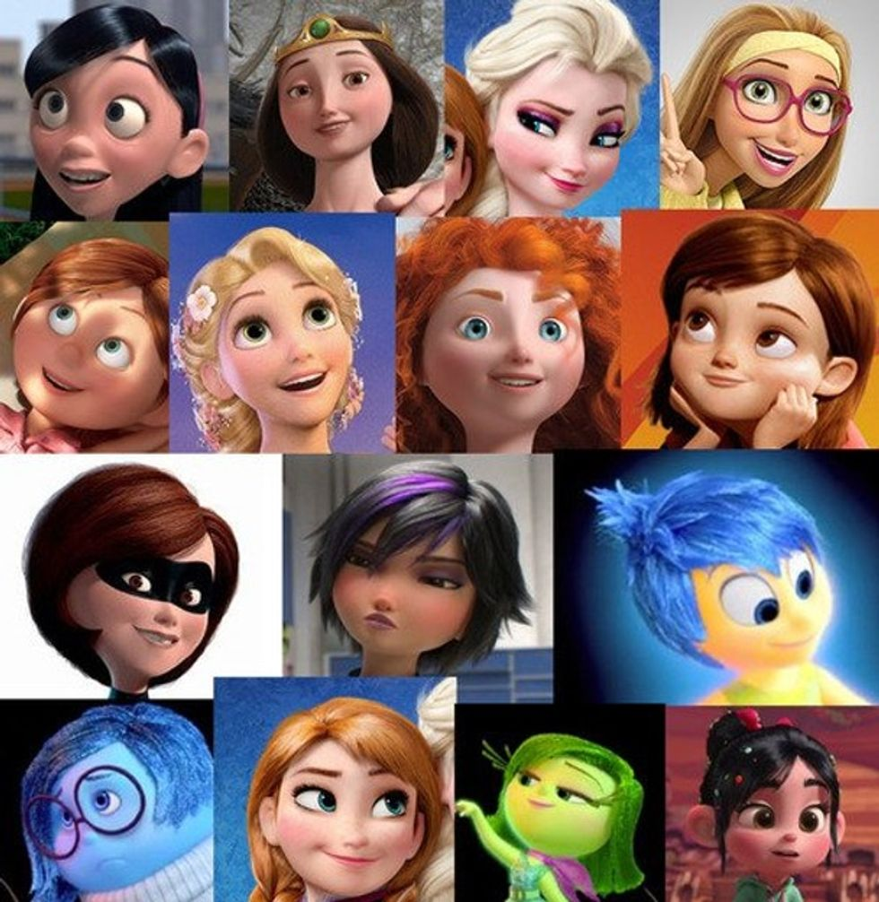 Every female character in every Disney/Pixar animated movie from the past decade basically has the same face.