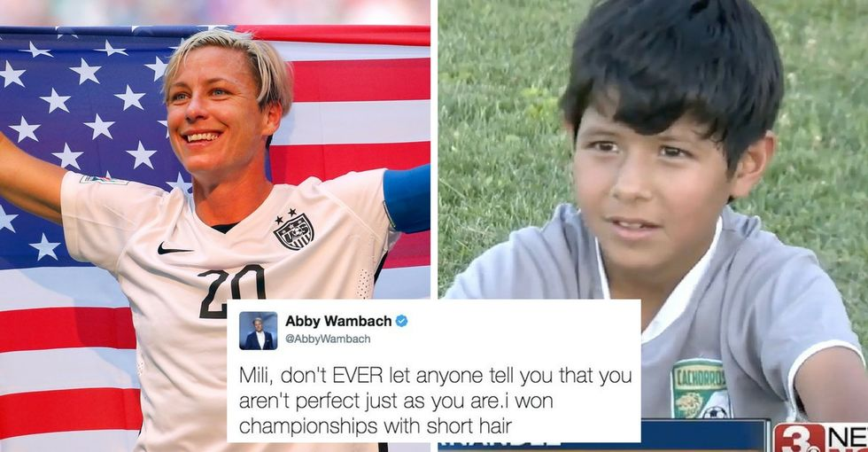 Famous soccer players are defending an 8-year-old-girl disqualified for her short hair.