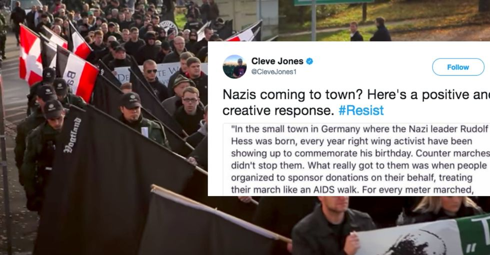 A town came up with a brilliant, hilarious way to troll neo-Nazi marchers. Take note.