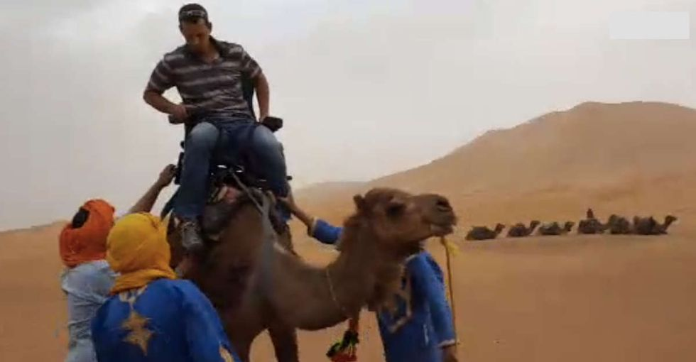 They tested a seat so people with disabilities could ride a camel. Here's how it went.