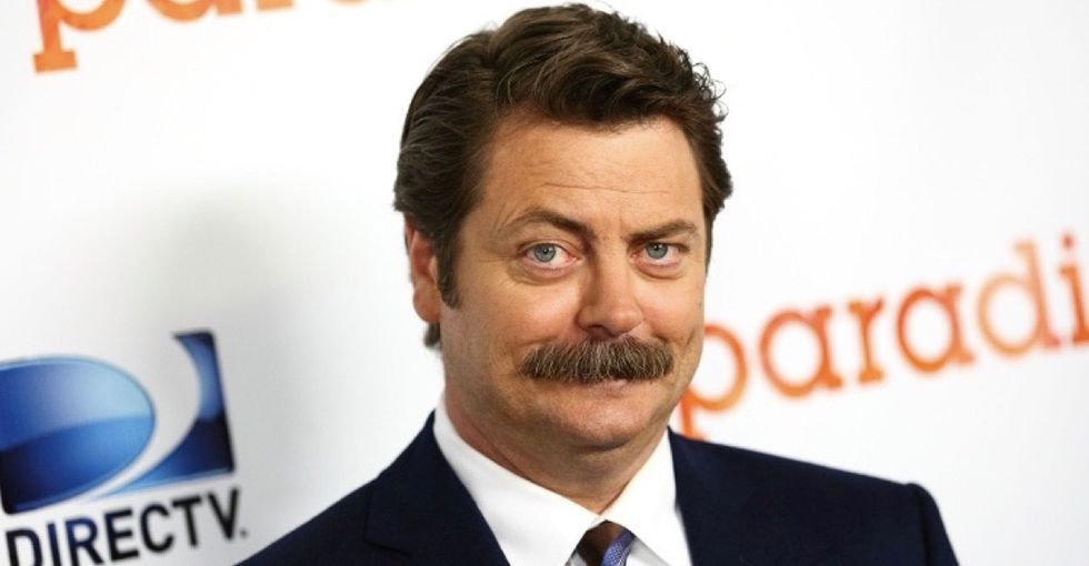 Nick Offerman's thoughts on men crying are the perfect antidote to toxic masculinity.