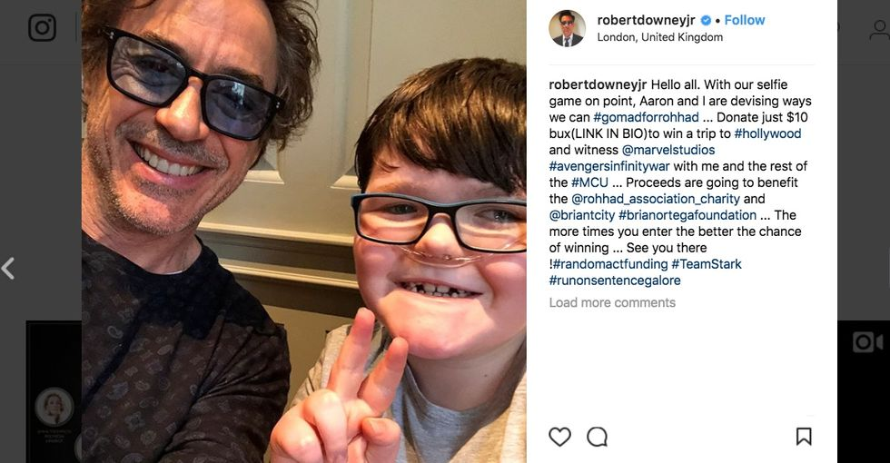 A terminally ill boy needed Iron Man's help. He got that and more.