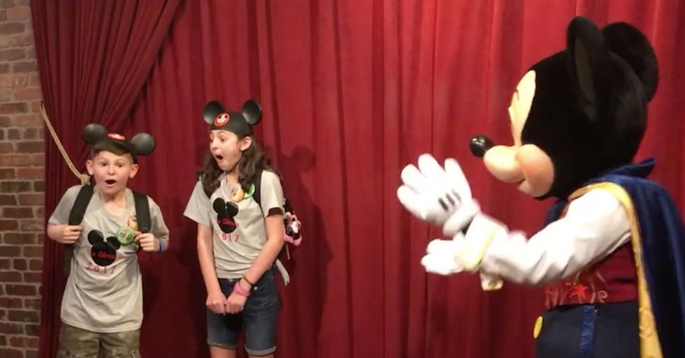 We're all weeping over a sweet video of Mickey Mouse telling 2 kids they're being adopted.