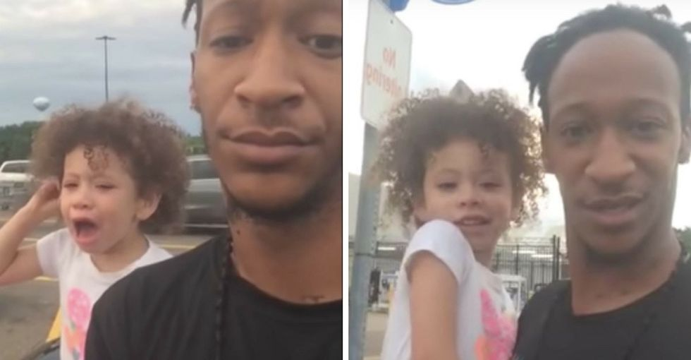Every parent has a technique for dealing with tantrums. See why this dad's went viral.