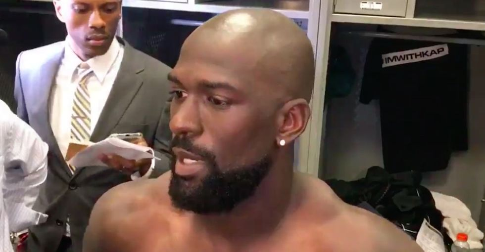 'I take it personally': NFL star chokes up responding to Trump's attacks.