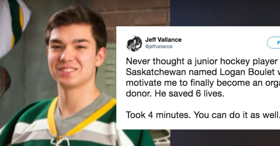 People are becoming organ donors in droves thanks to this heroic hockey player.