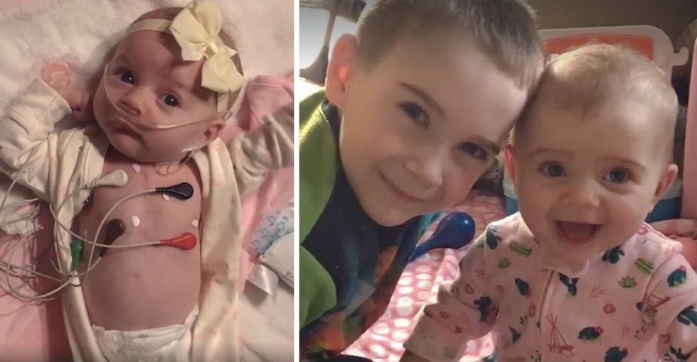 He wanted to brighten his baby sister's hospital visits, so he designed a gown for her.