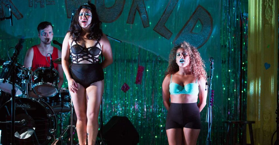 How one actor turned her brush with street harassment into a raucous, emotional concert.