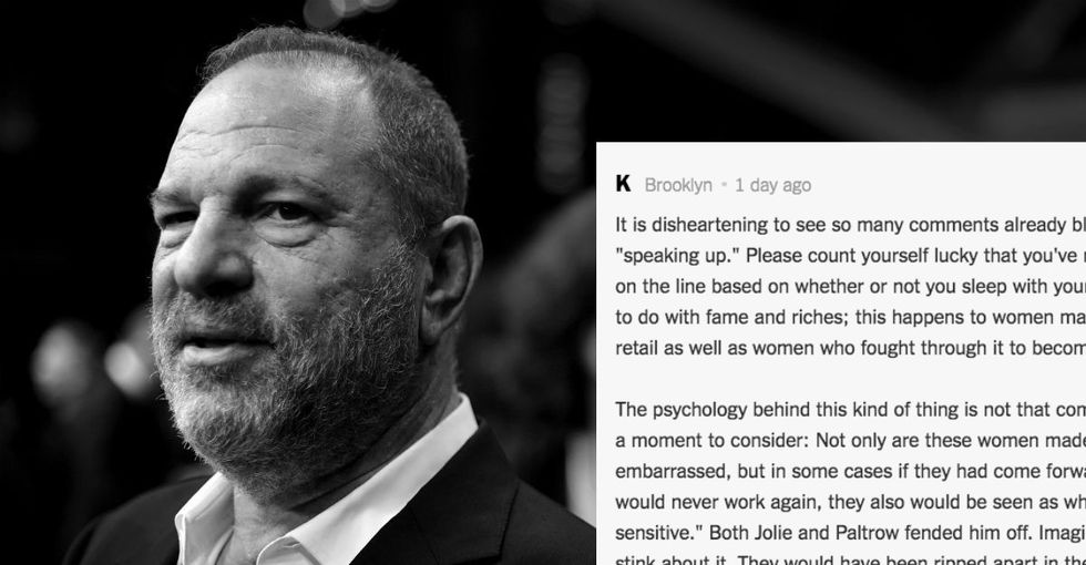 Why don't women come forward after sexual assault? This comment nailed it.