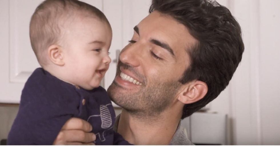 Justin Baldoni and his wife made peanuts their son's first food. Wait, what?