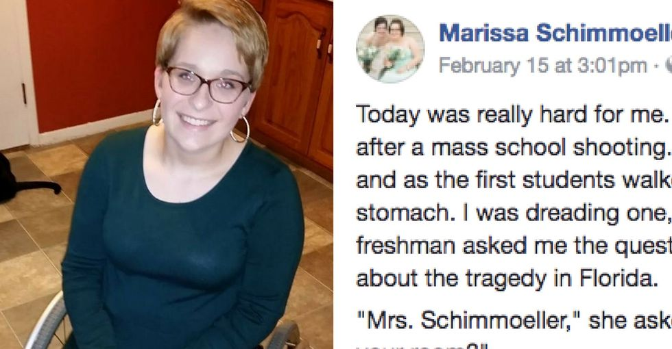 'We are going to carry you': Students bring teacher to tears after the Florida shooting.