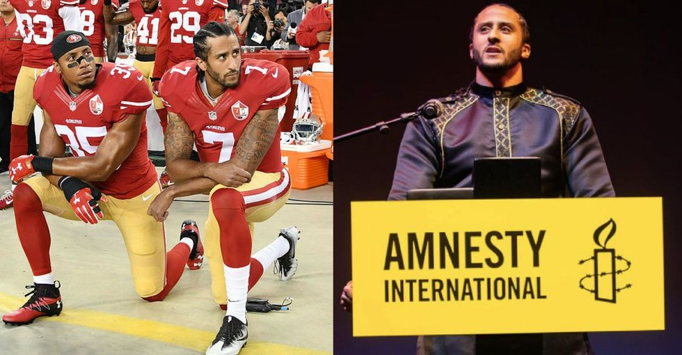 Colin Kaepernick just snagged a top honor also given to Malala and U2. He deserves it too.