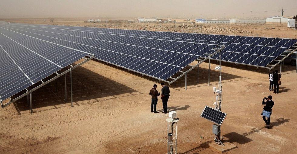 80,000 refugees in the desert just got their own solar power plant.
