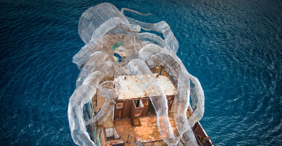 Richard Branson sank a ship and turned it into a sea-saving monster.