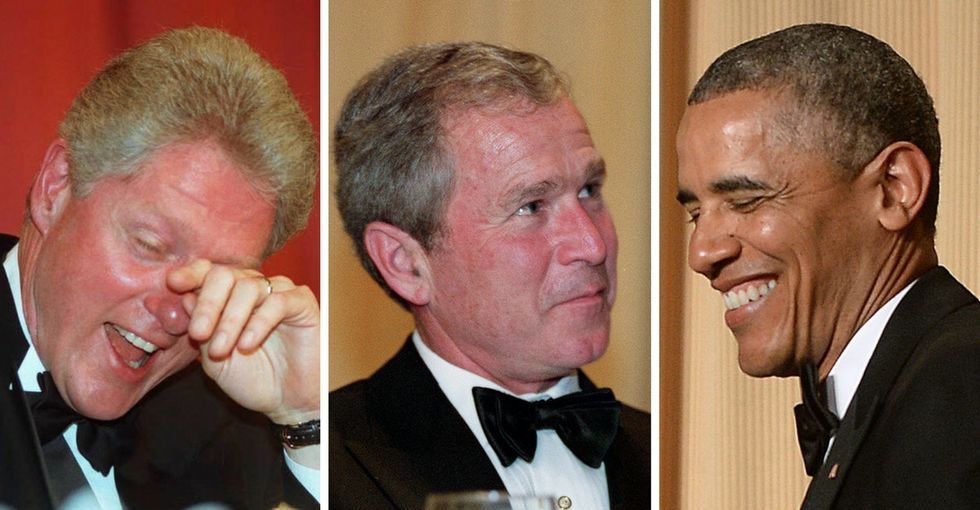 21 of the best jokes from the Clinton, Bush, and Obama White House Correspondents dinners.