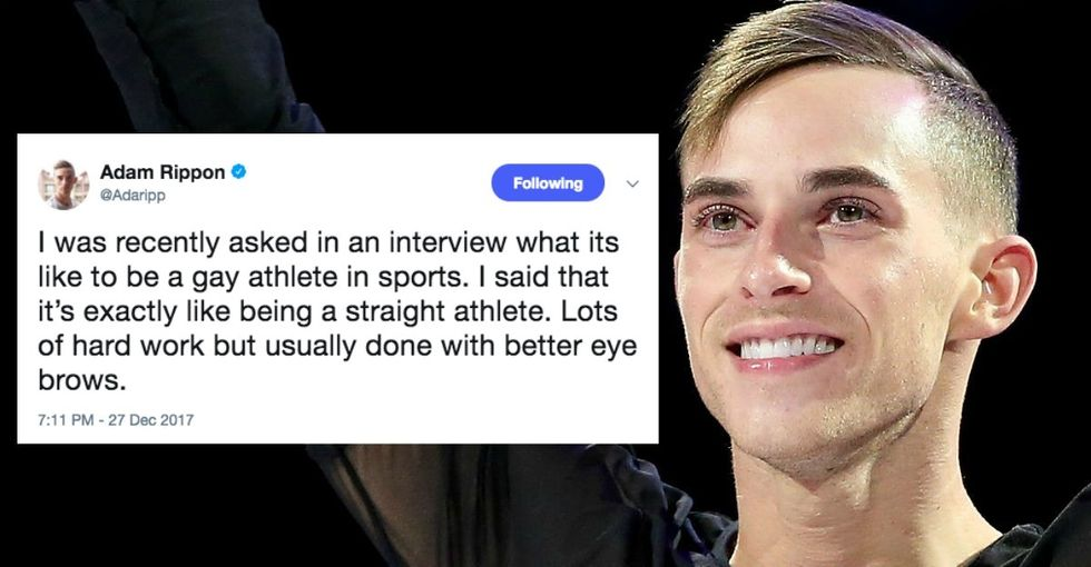 America's first openly gay male Winter Olympian is also … pretty damn funny too.