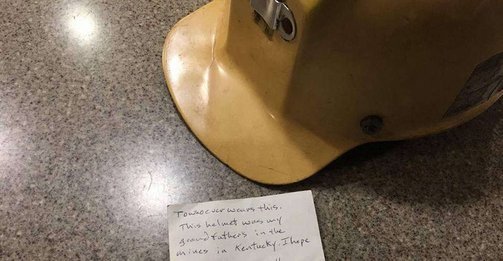 A cop picked up a donated helmet on 9/11. Months later, he found a note inside.