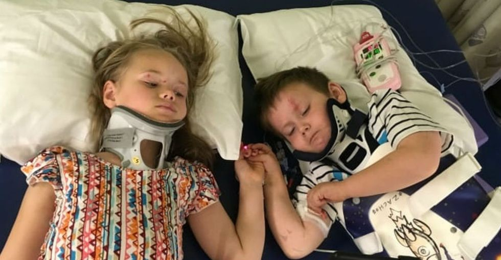 The internet's rallying behind these kids big time after a tragedy took their parents.