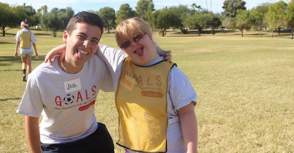 Kids with disabilities often get stuck on the sidelines. This boy is changing that.
