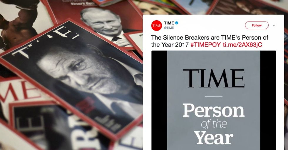 Check out Time magazine's Person of the Year cover: 'The Silence Breakers.'