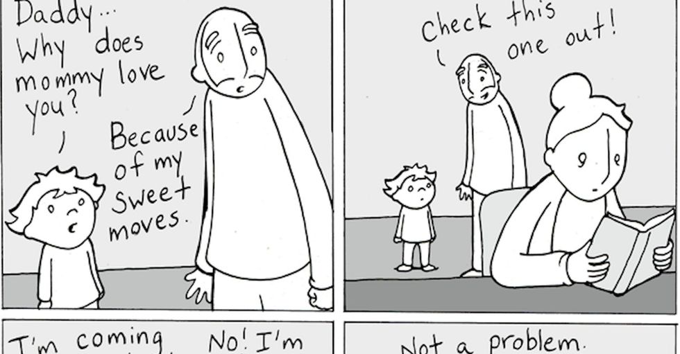 Heartwarming comics break down complex parenting issues with ease