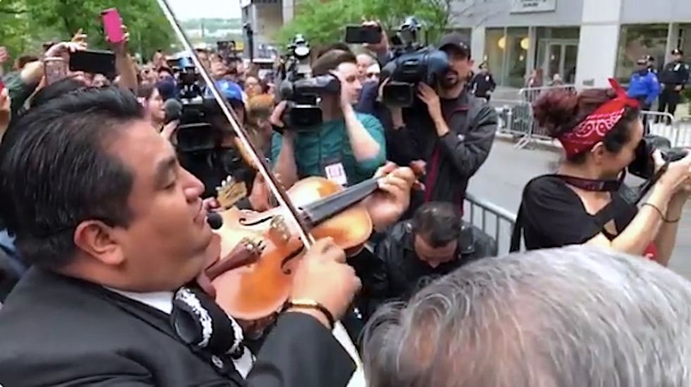 After a lawyer's racist rant went viral, a mariachi band showed up outside his apartment.