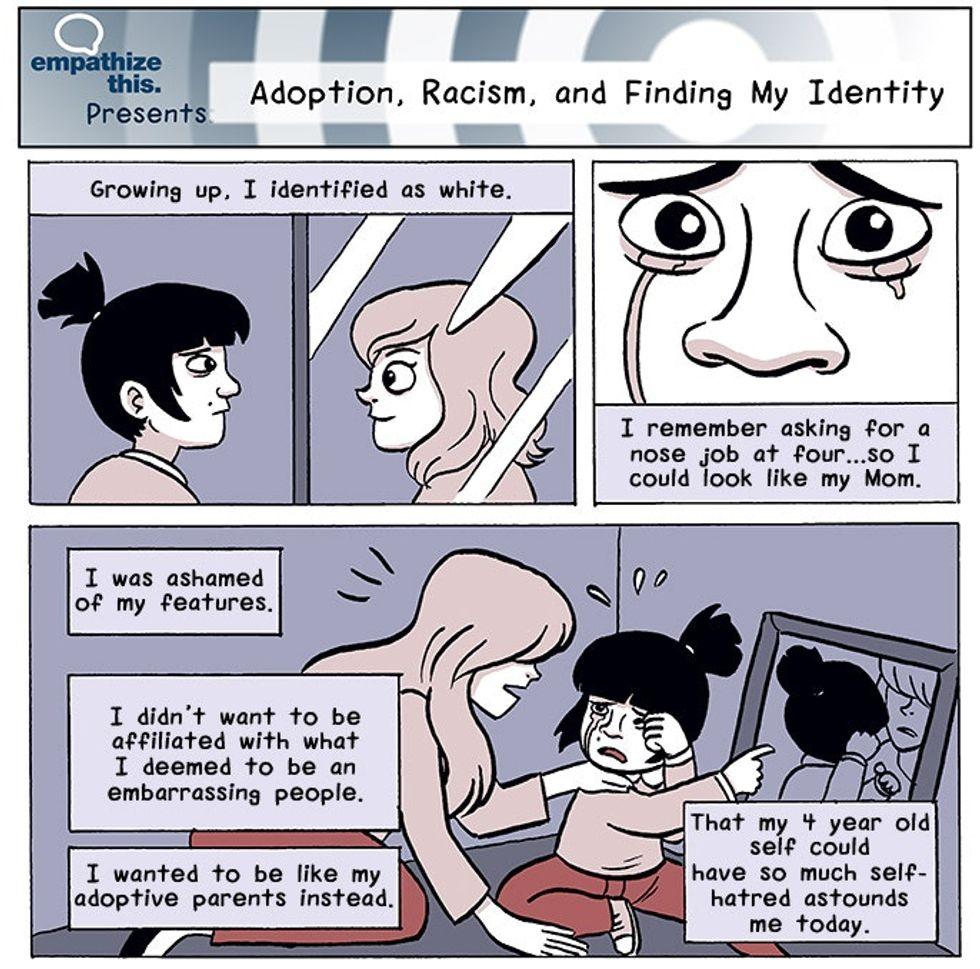A poignant comic about a girl's struggle to find her identity, racial and otherwise.