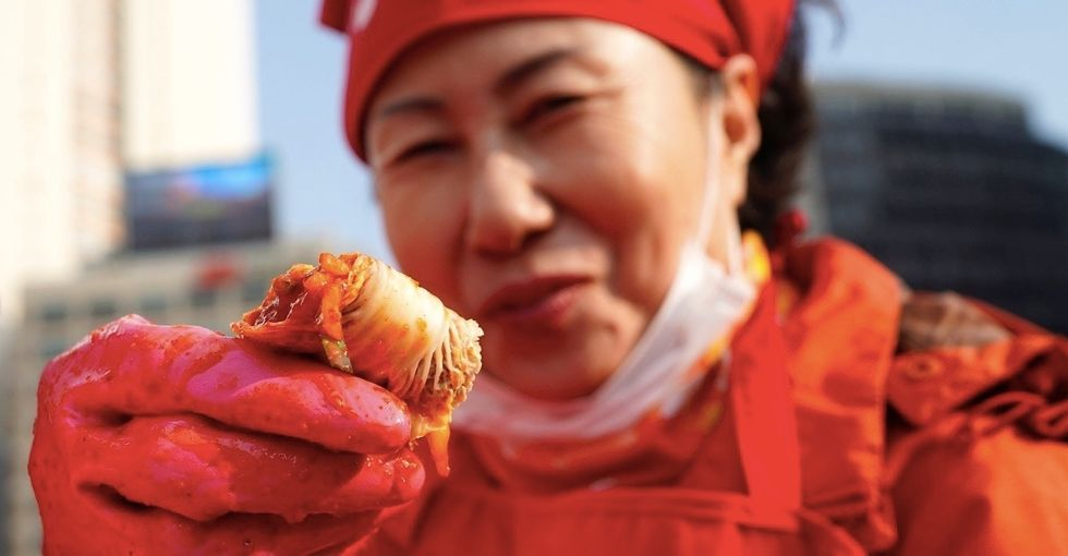 A Korean festival just made 60 tons of free kimchi for those who need it.