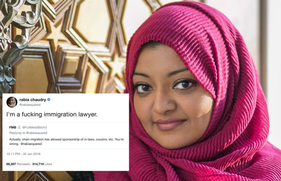 An internet troll tried to school a lawyer on immigration. She clapped back.