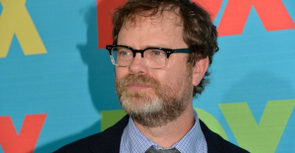 Rainn Wilson gave a commencement speech to rich kids — and he got very real with them.