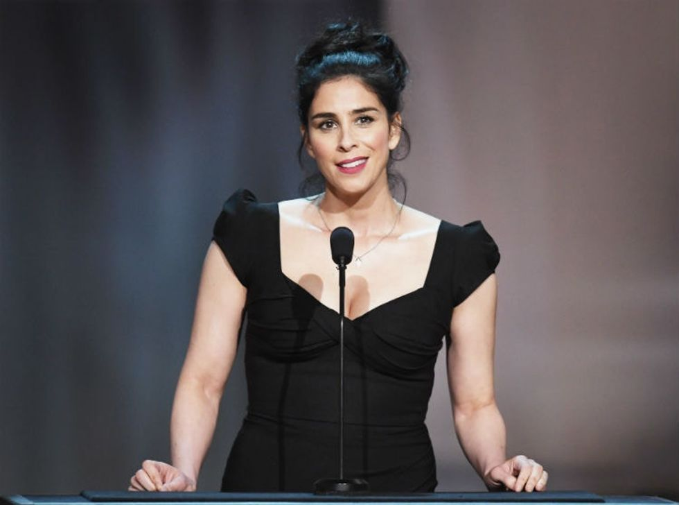 Sarah Silverman torches a guy mocking welfare recipients in a very Sarah Silverman way.