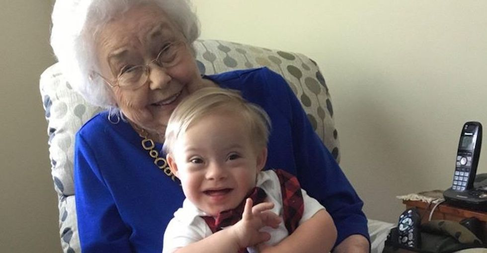 The original Gerber baby met the newest, and the moment was magical.