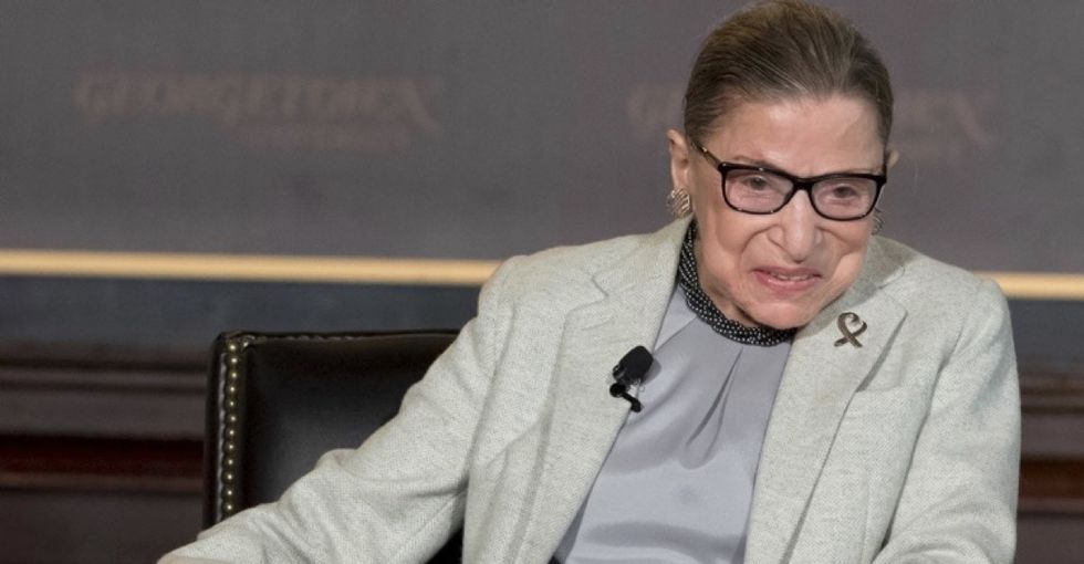 Ruth Bader Ginsburg is in Trump's head. And she has no plans of leaving.