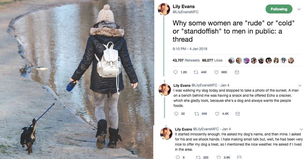 Woman's explanation for being 'standoffish to men in public' brings up an important point about unwanted attention.