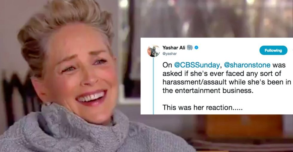 Sharon Stone was asked about sexual harassment. She went into a fit of laughter.