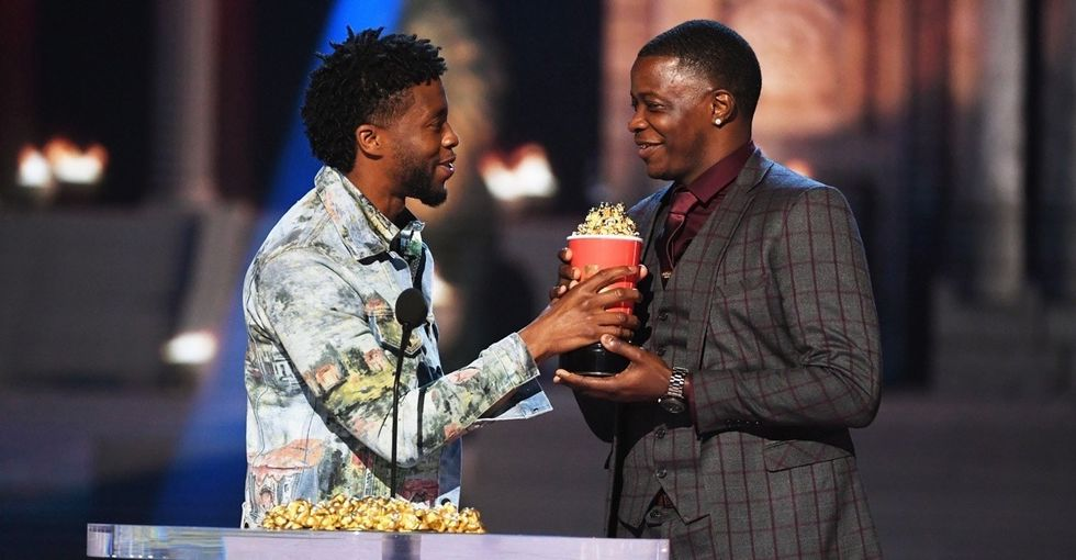 The unforgettable moment when Chadwick Boseman gave his MTV award to a real-life hero.