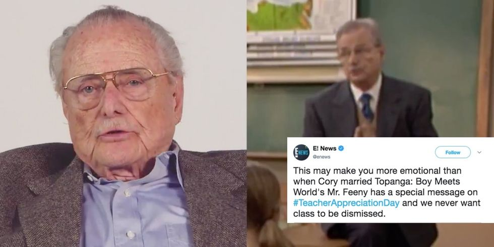 Mr. Feeny came back to teach one more lesson. And it's perfect.