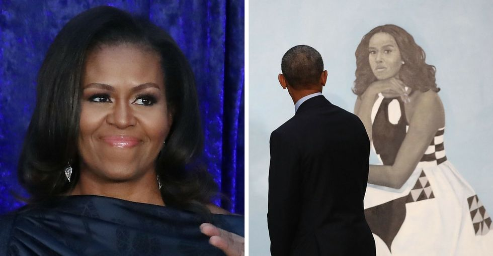In a touching post, Michelle Obama said she was 'overwhelmed' by her portrait. So are we.