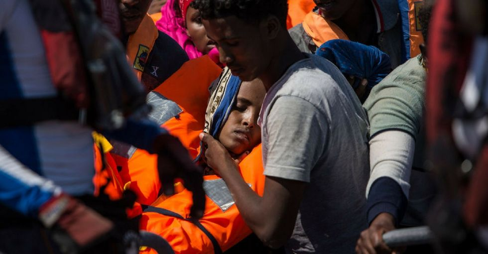 A U.S. warship saved a group of drowning migrants. But they had nowhere to go.