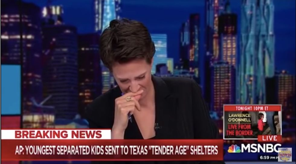 Rachel Maddow breaks down in tears while trying to read latest family separation news.